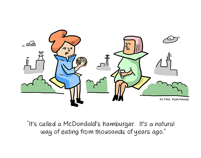 It's called a McDonald's hamburger.  It's a natural way of eating from thousands of years ago.