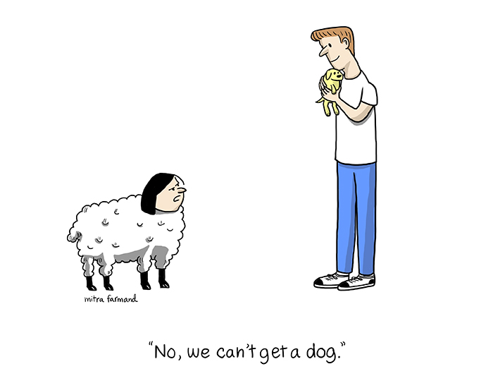 No, we can't get a dog!