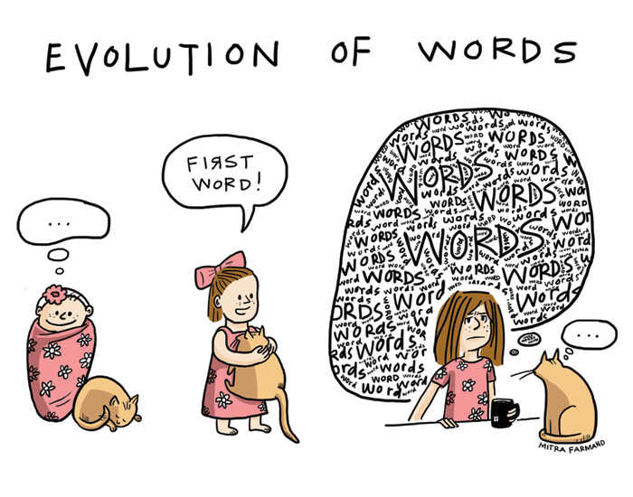 Evolution of Words ... First word! Words words words.