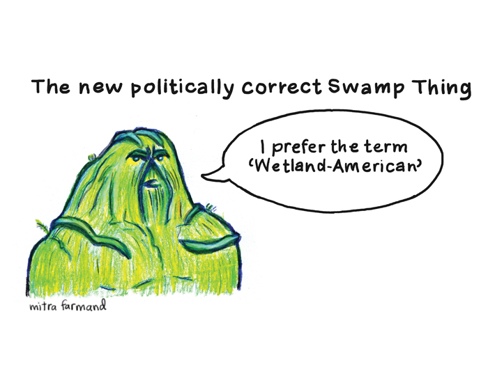 "The new politically correct Swamp Thing.  I prefer the term ""Wetland-American."""